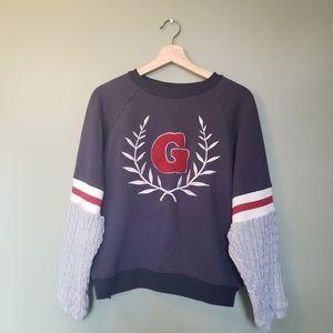 Price drop❣️Letter G sweatshirt knitted sleeves